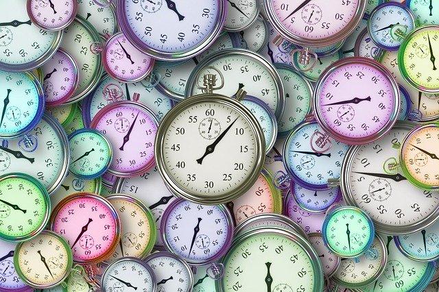 čas,organizace času