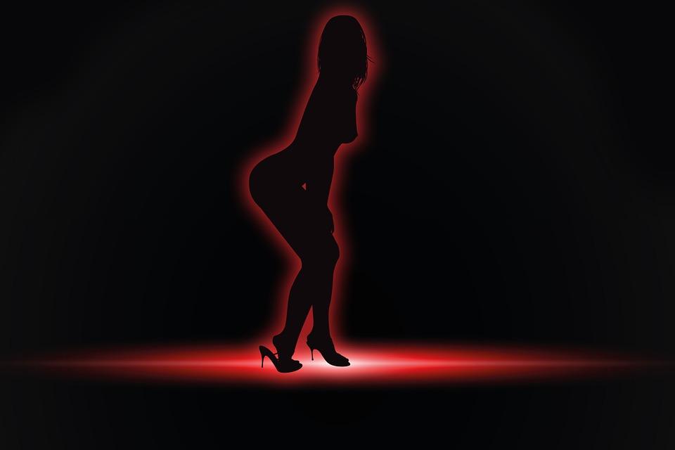 silueta ženy